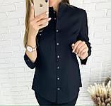 Стильная женская однотонная рубашка 26-260, фото 3