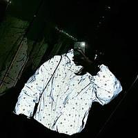 Женская укороченная  дутая куртка светоотражающая