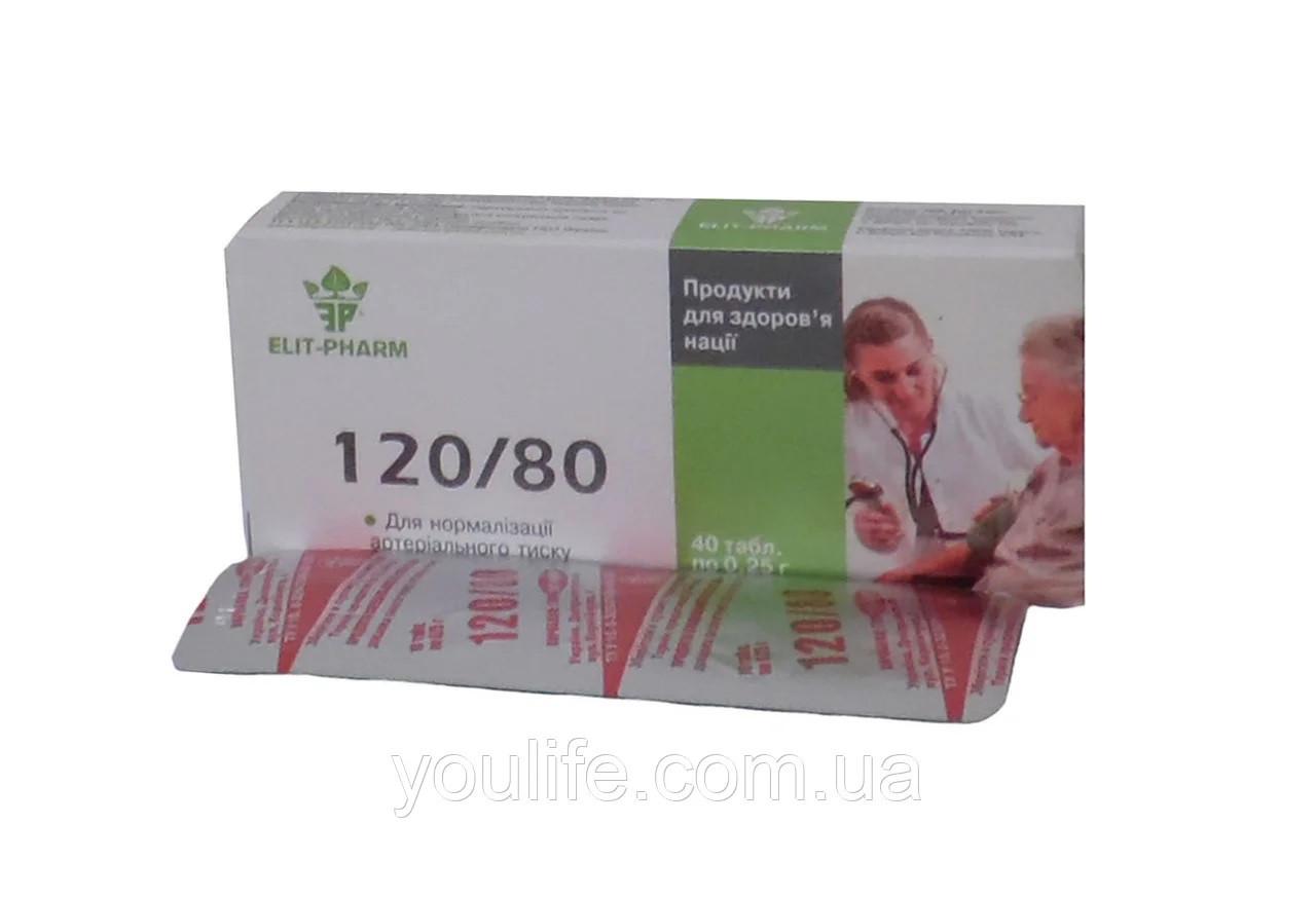 БАД 120/80  для нормализации давления Элит-фарм таблетки 40 2