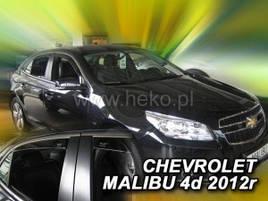 Дефлектори вікон (вітровики) CHEVROLET MALIBU 4D 2012->(HEKO)