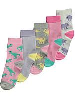 Набор детских носочков 5 пар с динозавриками Джордж для девочки