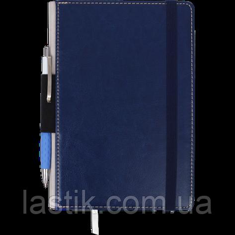 Блокнот деловой CODE, L2U, А5, 96 л., нелинов, т.-синий, иск.кожа, фото 2