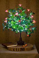 Светодиодное дерево Апельсин ( цветок розовый )