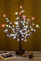 Светодиодное дерево Сакура + розовый и белый цветок  ( светильник )