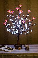 Светодиодное дерево Сакура + розовый цветок  ( светильник )