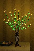 Светодиодные ветви дерева  ( зеленый лист+ Желтый цветок )