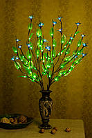 Светодиодные ветви дерева  ( зеленый лист+ Синий цветок )