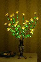 Светодиодные ветви дерева  ( зеленый лист+ Белый цветок )