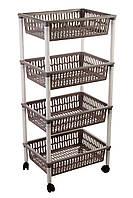 Этажерка 4-х ярусная Heidrun Baskets, 40*30*89см (HDR-1564)
