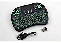 Беспроводная мини-клавиатура Rii mini i8 2.4 Ghz RUS c подсветкой + touch Черный (006186)