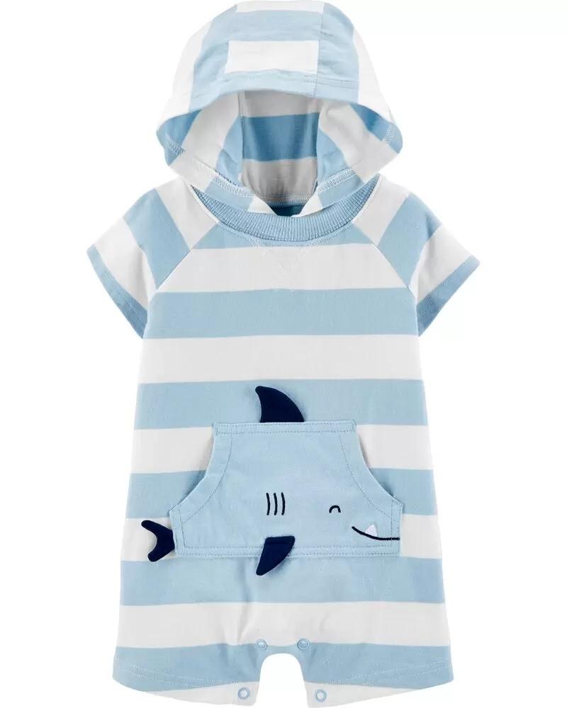 Крутой песочник с капюшоном Акулка Картерс для мальчика