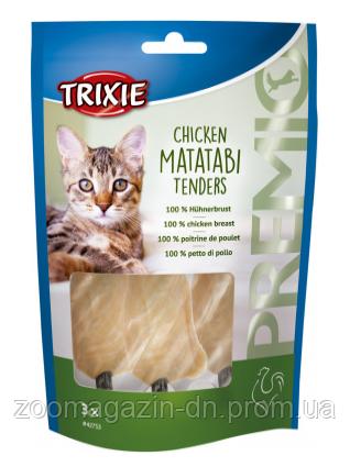 """Лакомство для кота""""PREMIO""""(курица с мататаби), Trixie, 3шт./55гр"""