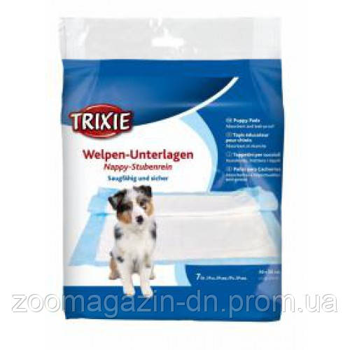 Пелёнки впитывающие для щенков, TRIXIE, 60x60см - 50 шт