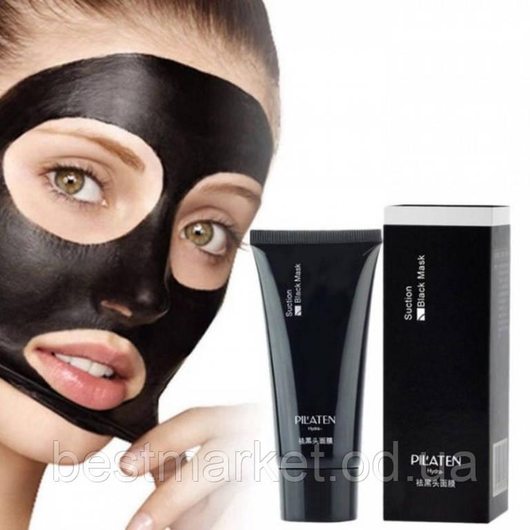 Черная Маска для Лица от Черных Точек Pilaten Suction Black Mask