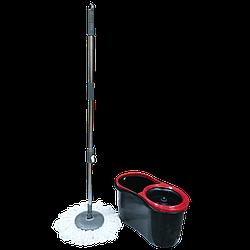 Набор для уборки Planet Spin Mop Eco 13 л черный