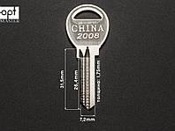 CHINA 2008 заготовка ключа, фото 1