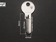 TIT8D заготовка ключа, фото 1