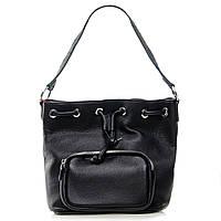 Классическая женская сумка из натуральной кожи Alex Rai 30*25*14см цвет черный (7-01 7110 black)