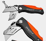 Sheffield S067220 Профи Складной универсальный нож . Многофункциональный карманный . Лезвия SK5 трапеция, фото 10