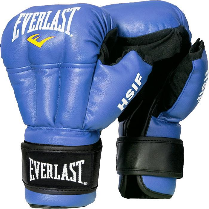 Перчатки для единоборств Everlast HSIF PU голубые