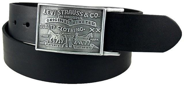 Ремень LEVIS Leather Belt With Plaque Buckle