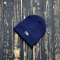 Мужская шапка The North Face синяя, TNF,  зимняя