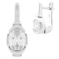 Серебряные серьги LOOk с фианитами (1635018)