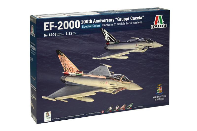 EF-2000. Пластиковая модель (в наборе 2 модели) многоцелевого боевого самолета в масштабе 1/72. ITALERI 1406