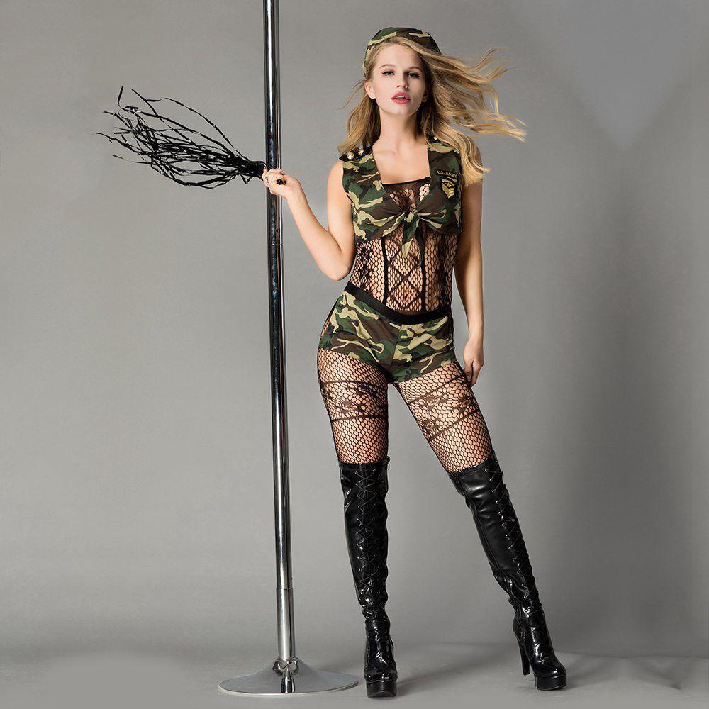 Эротический ролевой костюм-милитари Опасная Дейзи S/M
