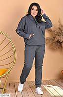 Женский спортиный костюм большие размеры серый SKL11-259287