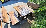 Мебель из массива берёзы 1100х800 с живым краем от производителя для дачи, кафе, комплект Furniture set - 32, фото 2