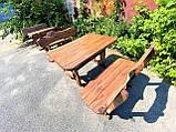 Мебель из массива берёзы 1100х800 с живым краем от производителя для дачи, кафе, комплект Furniture set - 32, фото 3