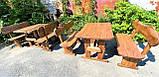 Мебель из массива берёзы 1100х800 с живым краем от производителя для дачи, кафе, комплект Furniture set - 32, фото 4