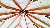 Беседка из дерева, оцилиндрованного бревна 5х5, фото 10