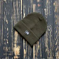 Мужская шапка The North Face хаки, TNF,  зимняя