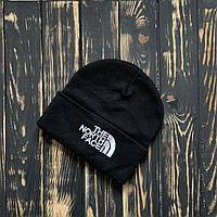 Мужская шапка The North Face черная, TNF,  зимняя