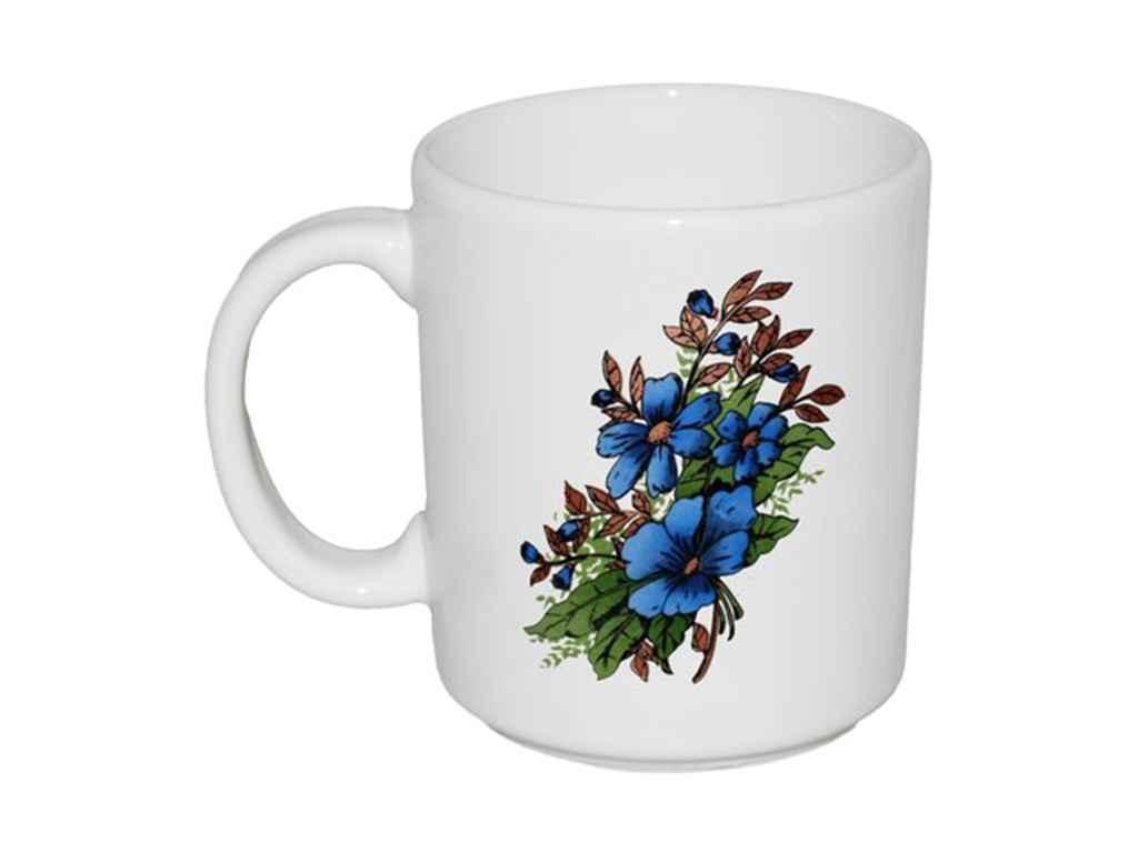 """Чашка керамика 300 мл Букет ассорти упаковка 6 шт """"Полигенько"""""""