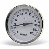 Термометр биметаллический 63/50, 0-120С, фото 1