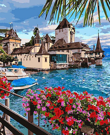 KHO2253 Набор-раскраска по номерам Чудесная Швейцария, Без коробки, фото 2