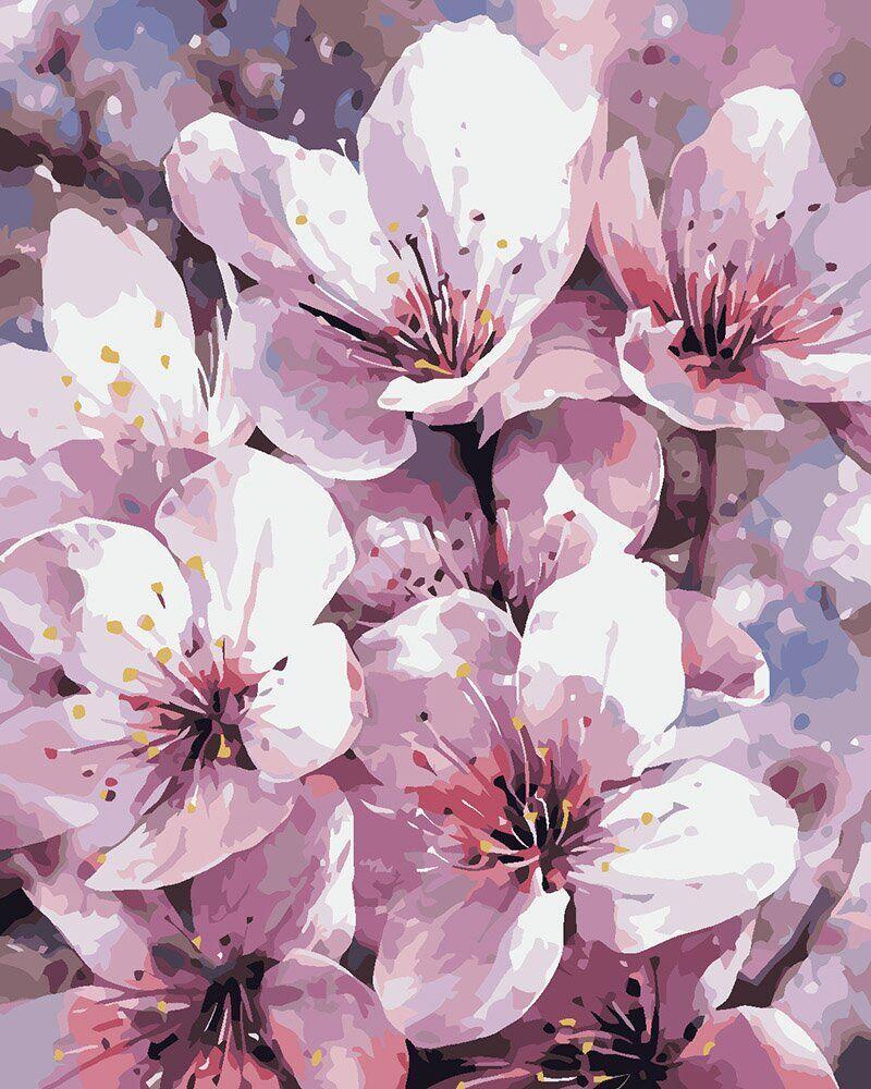 KHO2946 Набор-раскраска по номерам Дыхание весны, Без коробки