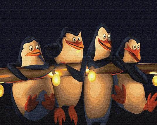 BK-GX22148 Набор-раскраска по номерам Пингвины Мадагаскара, Без коробки, фото 2