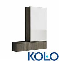 Шкафчик с зеркалом 80 см NOVA PRO правый KOLO серый ясень Коло