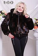 Женская Прелестная шуба из эко-меха под норку. Артикул: 160
