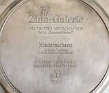 Коллекционная оловянная тарелка, пищевое олово, Германия, сельские мотивы, WMF, фото 4