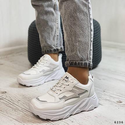 Белые кроссовки на толстой подошве, фото 2