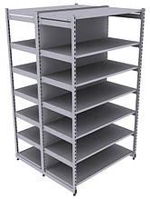 Стелаж металевий двосторонній торговий / складський підвищене навантаження