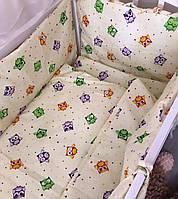 Комплект 11в1 детское постельное защита бортики балдахин одеяло подушка