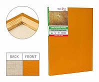Stretched canvas, 40x40 сm, extra fine grain, Light Ocher acrylic prime, cotton, ROSA Gallery~#~Підрамник, 40*40 см, дрібне зерно, Охра світла,