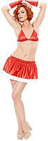 Костюм Снегурочки CHRISTMAS COSTUME (бюстье, шорты, колпак), S/M, M/L, L/XL
