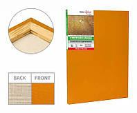 Stretched canvas, 45x75 сm, extra fine grain, Light Ocher acrylic prime, cotton, ROSA Gallery~#~Підрамник, 45*75 см, дрібне зерно, Охра світла,